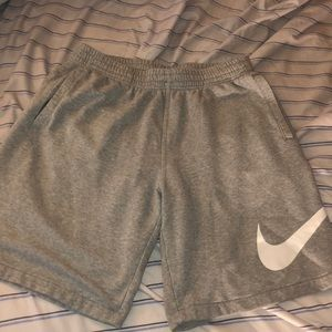 Grey nike cotton sweatshorts